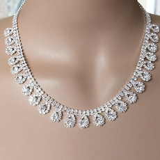 SHIMMERING DROPS RHINESTONE NECKLACE SET - TEMPORARILY SOLD OUT