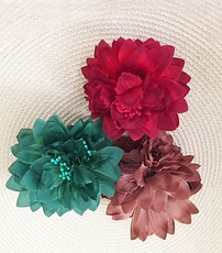 SILK FLOWER JAW CLIP HAIR ACCESSORY - LIMITED SUPPLY
