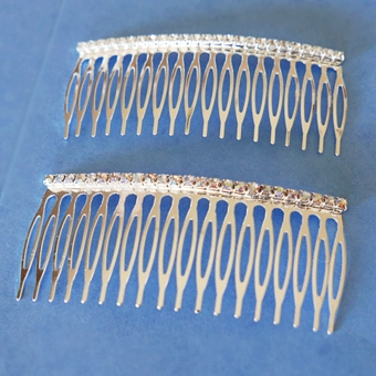 SINGLE STRAIGHT RHINESTONE HAIR COMB