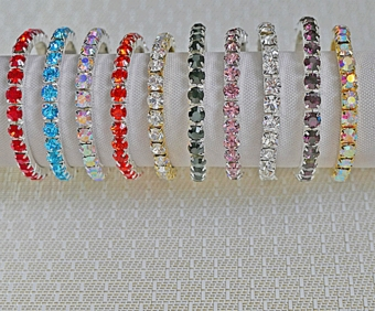 SINGLE STRAND LARGE CRYSTALS ELASTIC BRACELET