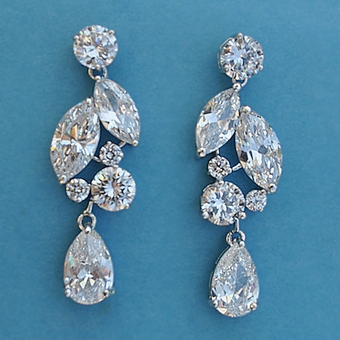 SIZZLE CUBIC ZIRCONIA CZ EARRINGS - SOLD OUT