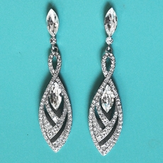 SMART FINISH RHINESTONE CHANDELIER EARRINGS - ONE PAIR REMAINING