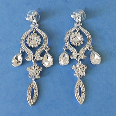 STARRY NIGHT RHINESTONE CLEAR EARRINGS