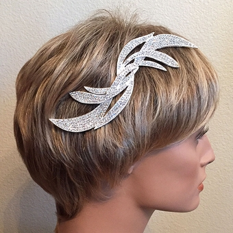 SWEPT AWAY RHINESTONE BRIDAL HAIRCOMB