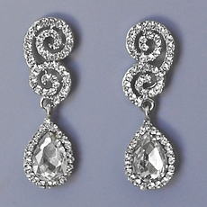 SWIRL-UPON-SWIRL RHINESTONE EARRINGS