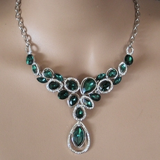 TEAL DELIGHT RHINESTONE BRIDESMAIDS JEWELRY SET - SOLD OUT