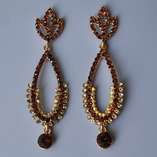 TOPAZ CHARM RHINESTONE EARRINGS