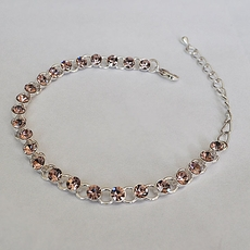 TOUCH OF ROSE SINGLE-STRANGE RHINESTONE BRACELET