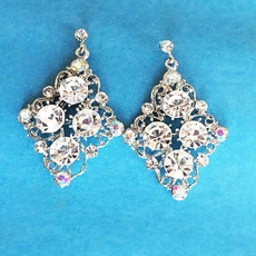 TRANSLUCENT RHINESTONE EARRINGS