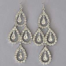 TRIPLE GLITTER RHINESTONE EARRINGS
