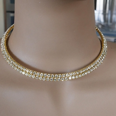 TWO TIMING GOLD STIFF CHOKER SET