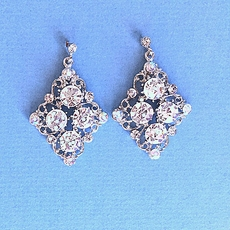 V FOR VINTAGE RHINESTONE EARRINGS