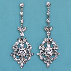 VICTORIAN VAMP RHINESTONE EARRINGS