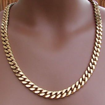 VINTAGE HEAVY GOLD CHAIN NECKLACE