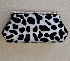 WILD ONE ELEGANT BLACK AND WHITE CLUTCH