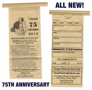 75th Anniversary Soil Sample Bag