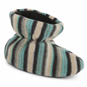 ACORN Toddler Easy Bootie Slipper - Neutral Fun Stripe