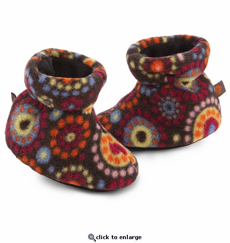 ACORN Toddler Easy Bootie Slipper - Chocolate Dots