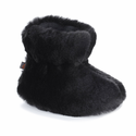 ACORN Toddler Tex Easy Bootie Slipper - Black