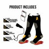 ActionHeat 3.7V Rechargeable Battery Heated Socks - Cotton