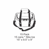 AO Coolers 15 Pack SUP With Suction Cup