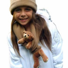 Bear Hands Brown Bear on Camel Fleece Buddy Scarf