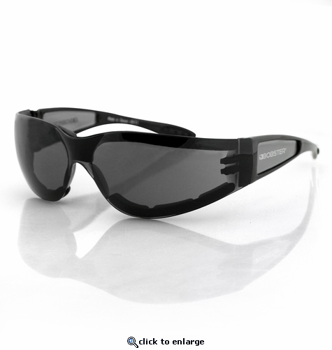 Bobster Shield II Sunglasses With Foam - Black/Smoked