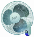 "Comfort Zone 16"" Wall Mount Fan With Remote"
