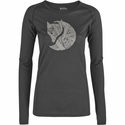 FjallRaven Women's Abisko Trail T-Shirt Printed Long-Sleeve