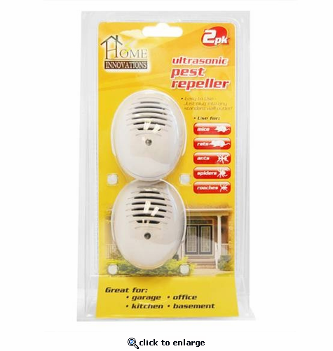 Home Innovations Plug-in Ultrasonic Pest Repeller 2-Pack
