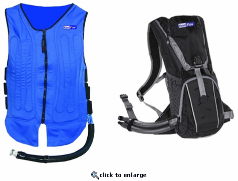 KewlFlow Circulatory Cooling Vest With Backpack Kit