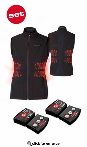 Lenz Heat Vest 1.0 for Women w/ rcB 1800 Battery Packs