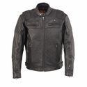 Milwaukee Leather Men's Vented Scooter Jacket with Heated Technology