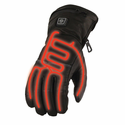 Milwaukee Leather Men's Waterproof Heated Gantlet Gloves with Battery Kit