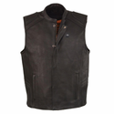 Milwaukee Leather Men's Zipper Front Vest with Heated Technology