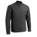 Milwaukee Leather Men's Zipper Heated Soft Shell Jacket with Front & Back Heating Elements