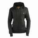 Milwaukee Leather Women's Zipper Heated Hoodie with Front & Back Heating Elements