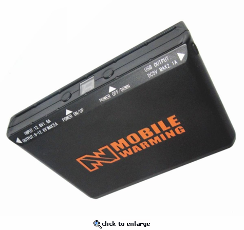 Mobile Warming 5200mAh Rechargeable Battery - 12V Compatible