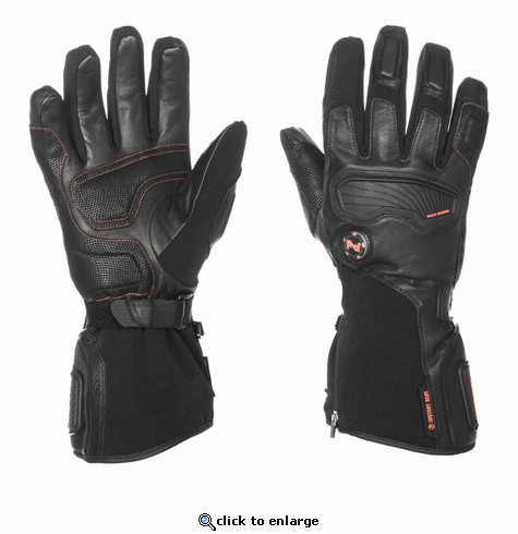 Mobile Warming Barra Leather Heated Gloves - 7V Battery