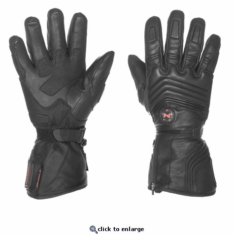 Mobile Warming Blizzard Leather Heated Gloves - 7V Battery - 2018 Model