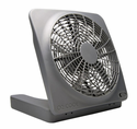 """O2 Cool 10"""" Battery Operated Indoor/Outdoor Fan with Adapter"""