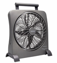 "O2 Cool 10"" Treva SmartPower Fan with USB Power Port & AC Adapter"