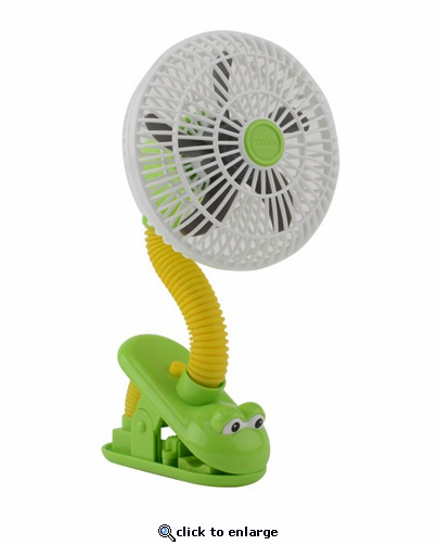 O2 Cool Battery Operated 4 Inch Clip Frog Fan