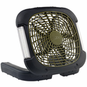 O2COOL 10-inch Portable Camping Fan with Lights
