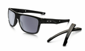 Oakley Crossrange Sunglasses Polished Black w/Grey