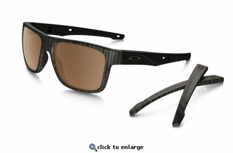 Oakley Crossrange Sunglasses Woodgrain w/Prizm Tungsten Polarized