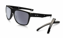 Oakley Crossrange XL Sunglasses Polished Black w/Grey