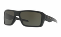 Oakley Double Edge Sunglasses Matte Black w/Dark Grey