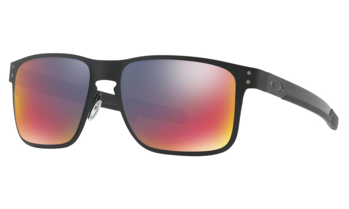 fa53463e82 Oakley Holbrook Metal Sunglasses Matte Black w Positive Red Iridium - The  Warming Store