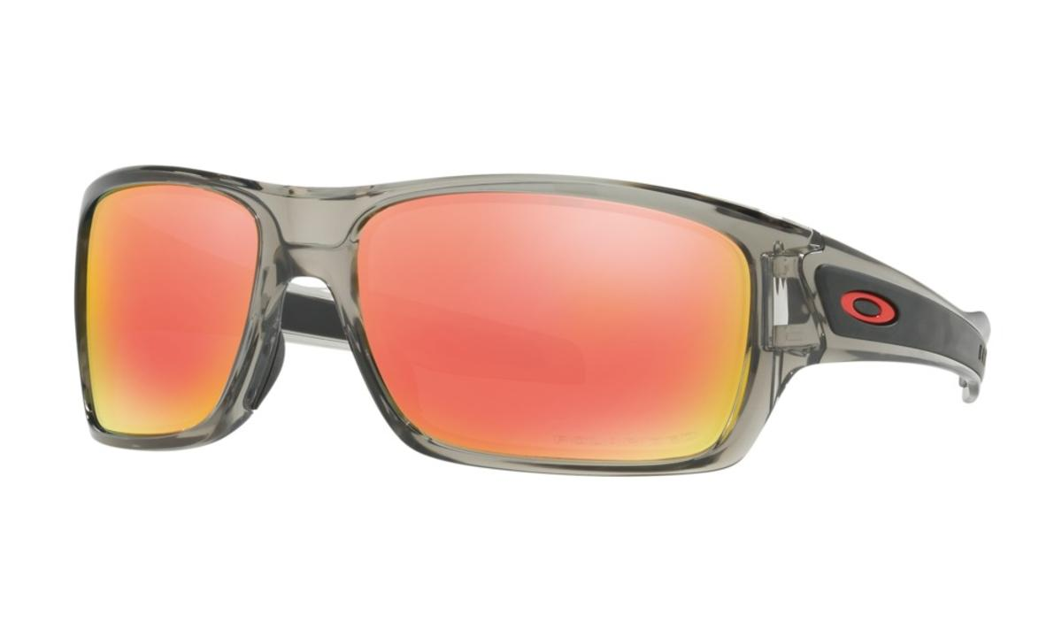 57b3009bac Oakley Turbine Sunglasses Grey Ink w Ruby Iridium Polarized - The Warming  Store